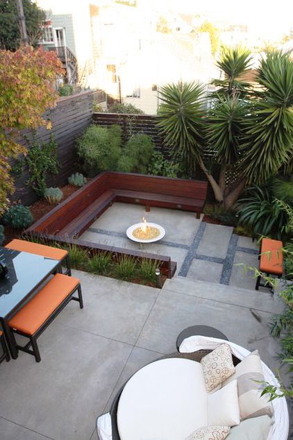 Design with debra prinzing sunken raised areas take for Outer space garden design